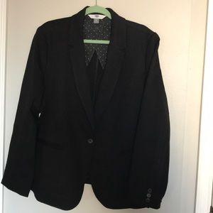 Old Navy Ponte Knit Black Blazer